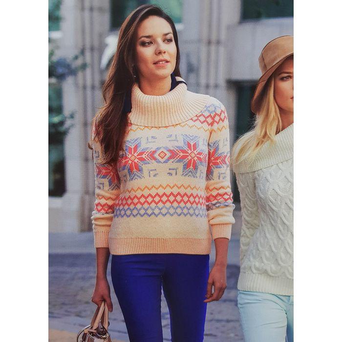 Женский свитер с орнаментом 140-07