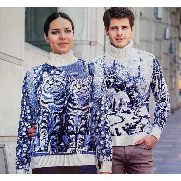 Мужской свитер с зимним рисунком 230-352