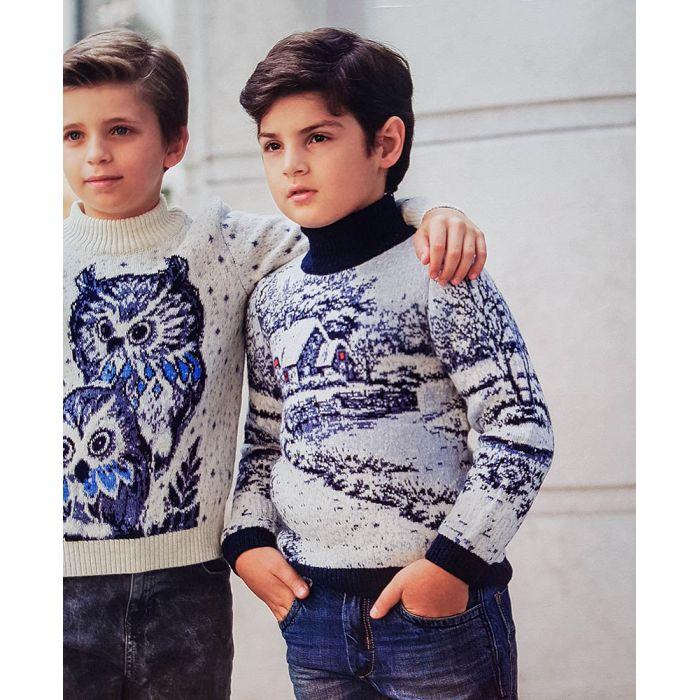 Детский свитер с городским мотивом 330-13