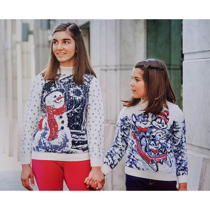 Детский свитер со сказочными животными 330-24