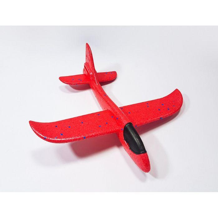 Самолетик из пенопласта 36 см - красный