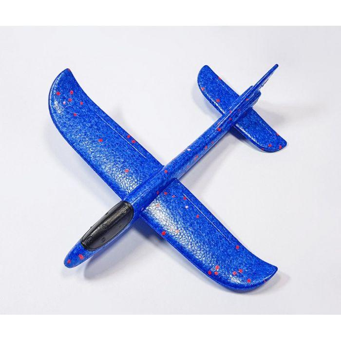 Самолетик из пенопласта 36 см - синий