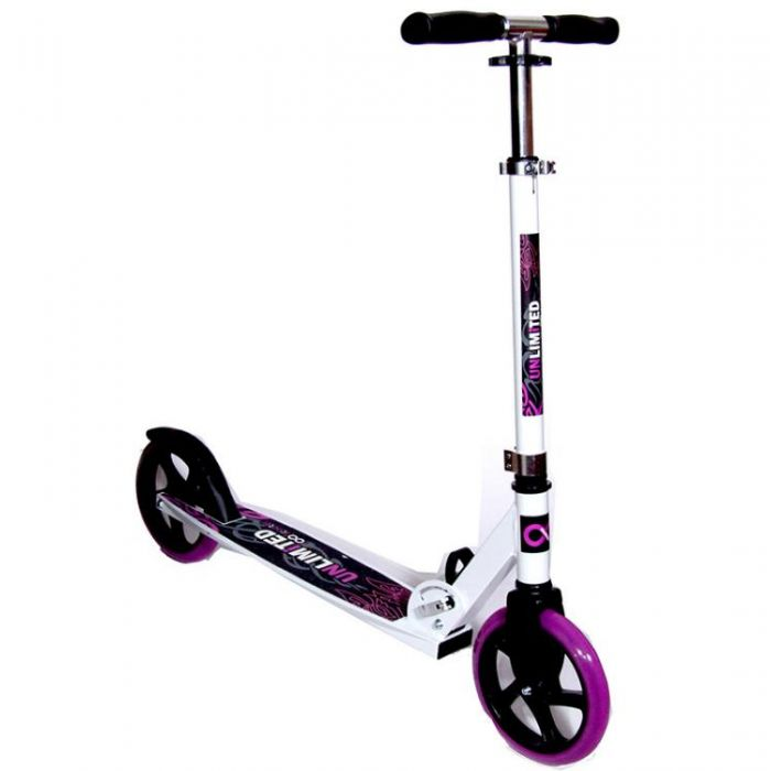 Самокат Unlimited HT 02-205 фиолетовый