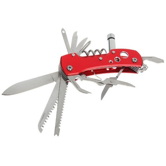 Складной нож многофункциональный 12 в 1, лезвие 6 см, рукоять с отверстиями, микс