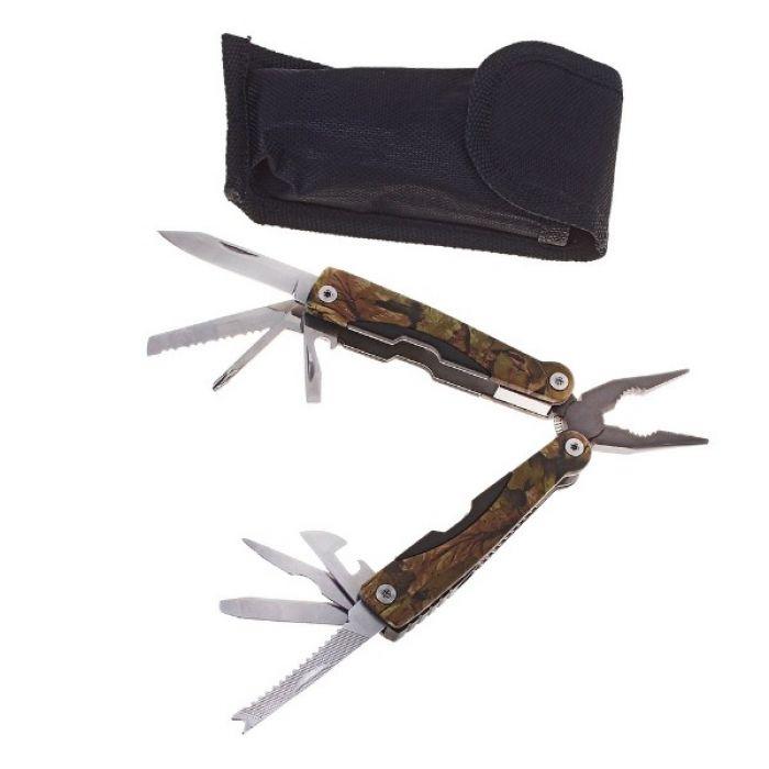 Складной нож многофункциональный 9в1, рукоять хаки, в чехле
