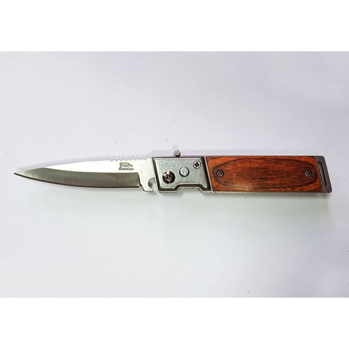 Складной нож автоматический Stainless Steel Wood - 8, длина лезвия 6 см