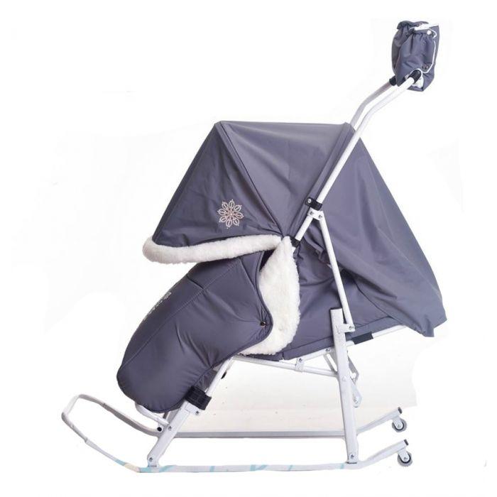Санки-коляска Kristy Luxe Plus Серый