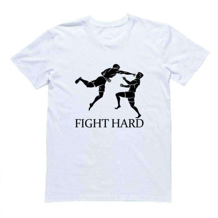 """Футболка для боксеров с принтом """"Fight hard(2)"""""""