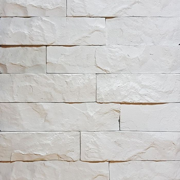 Скала белый, искусственный камень