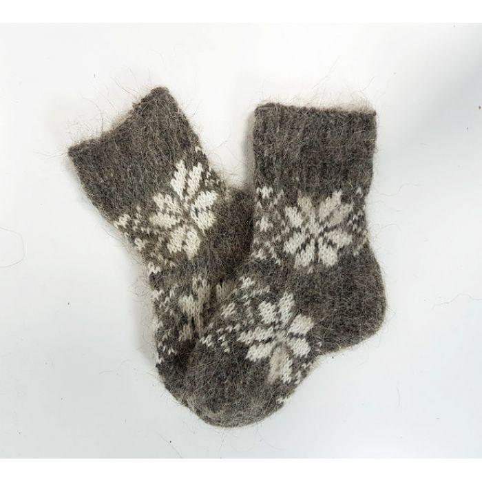 Шерстяные носки детские с орнаментом