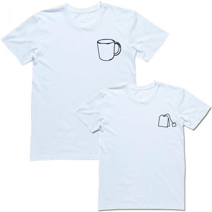 """Парная футболка с принтом """"Чашка и чай"""""""