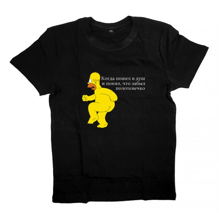 "Футболка с принтом ""Naked Homer"""