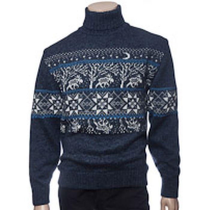 Мужской вязаный свитер Т0506
