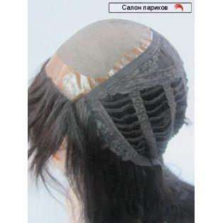 купить парик из натуральных волос Exclusive Mono 95 см (цвет волос коричнево-черный)