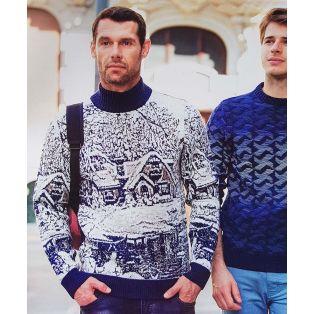 Мужской свитер тёмно-синий 220-162