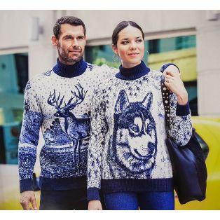 Мужской свитер с оленями 230-383