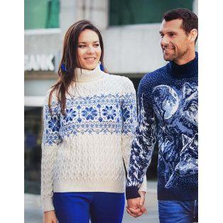 Мужской свитер с волком 230-388