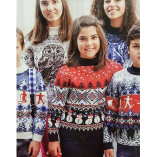 Детский свитер со снеговиками 330-22