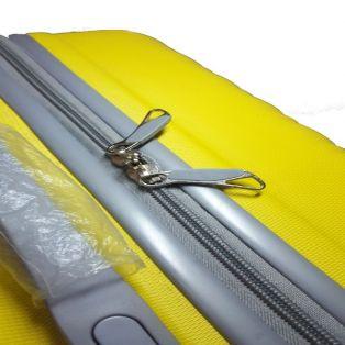 "Пластиковый чемодан Ananda ""желтый"", большой"