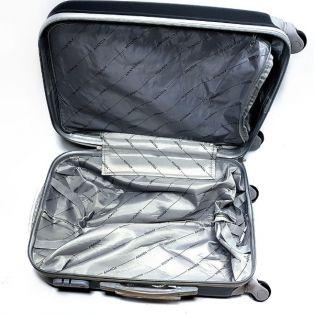 """Пластиковый чемодан Ananda """"черный"""", маленький"""
