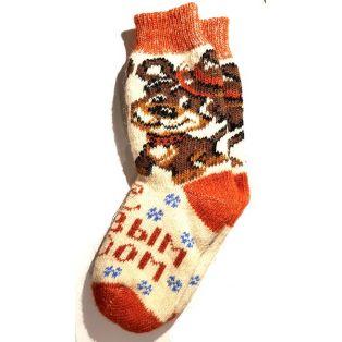 Шерстяные носки женские, новогодние