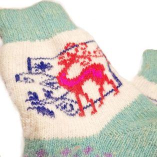 Носки шерстяные, женские, разноцветные, размер 35-39