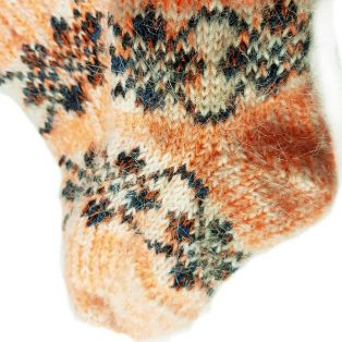 Носочки шерстяные, детские, оранжевого цвета, возраст - 1-3 года