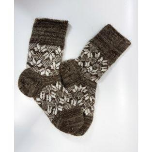 Шерстяные носки мужские с орнаментом