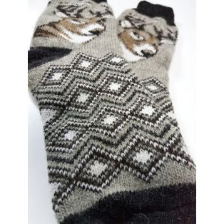 Шерстяные носки мужские с оленем