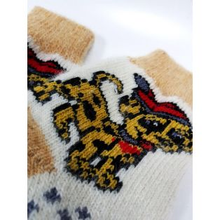 Шерстяные носки женские с собачкой