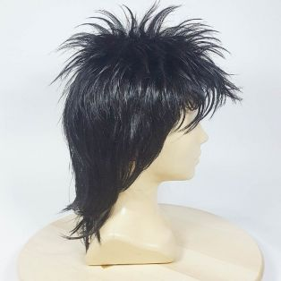 Средний парик из искусственных волос чёрного цвета