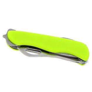 Складной нож многофункциональный 6в1, лезвие 7,5 см, рукоять неоново-жёлтая