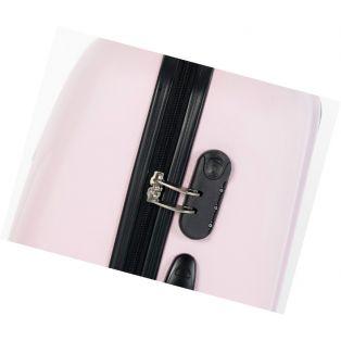 Пластиковый чемодан  (розовый)
