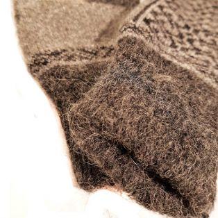 Варежки мужские, шерсть, ангора, тёмного цвета