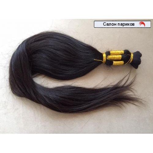 волосы в срезе цвет темно-коричневый длина 87 см