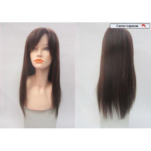 парик натуральный 100108 super Mono (цвет волос темно-русый)