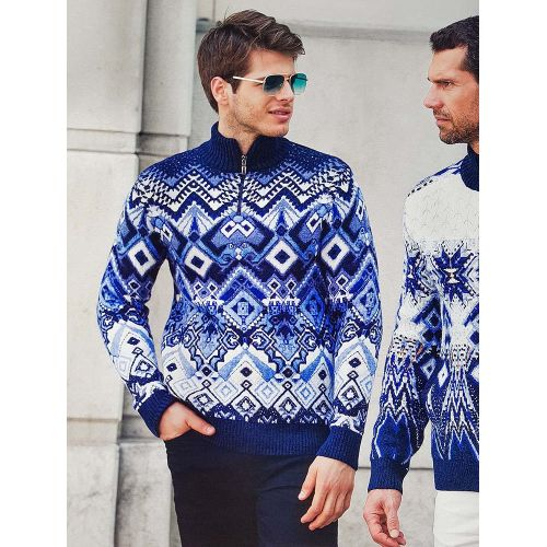 Мужской свитер с узорами 230-381