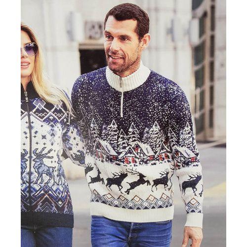 Мужской свитер с оленями 230-410