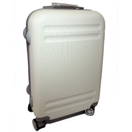 """Пластиковый чемодан Ananda """"белый"""", средний"""