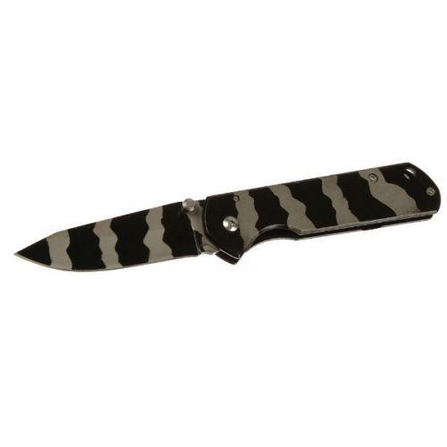 """Складной нож, лезвие """"drop-point"""" 7 см, с фиксатором, блокиратором, камуфляжная расцветка"""