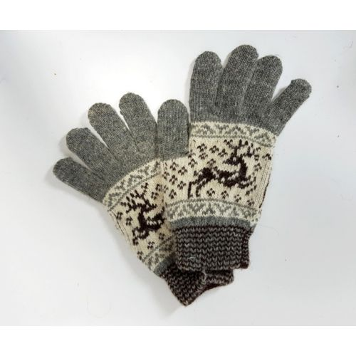 Перчатки с оленями (унисекс)