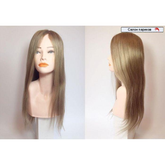 Длинный натуральный парик на сетке 15008-16 моно
