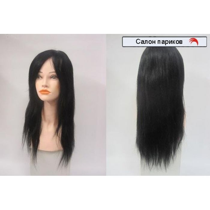 купить парик из натуральных волос без челки 100101 Mono (цвет черный)