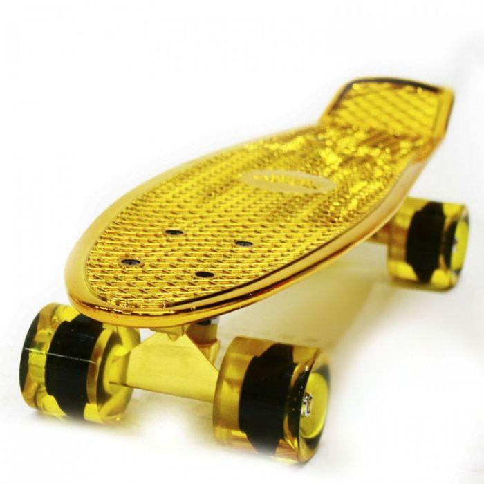 Пенни борд Hubster Cruiser 22 Metallic gold