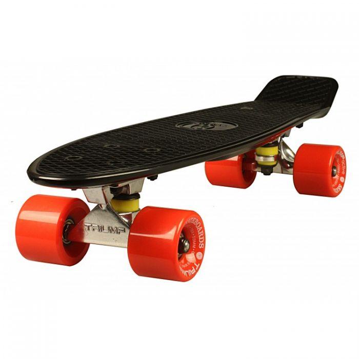 """Скейтборд Triumf Active 22"""" TLS-401 черный с красными колесами"""