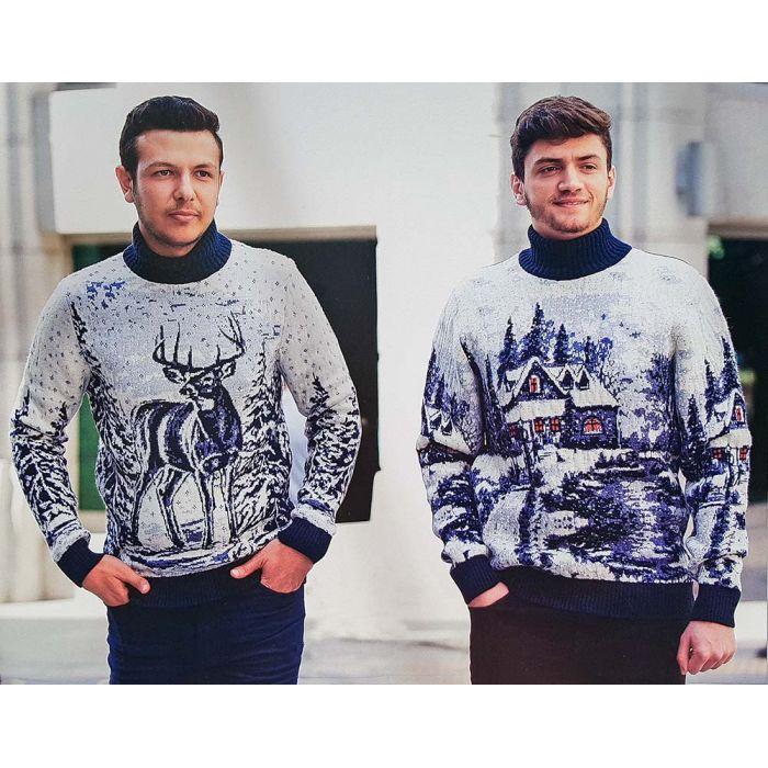 Мужской свитер с оленем 230-409