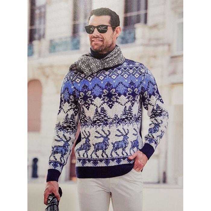 Мужской свитер с оленями 230-415