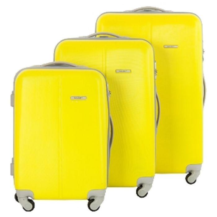 Пластиковый чемодан (желтый)