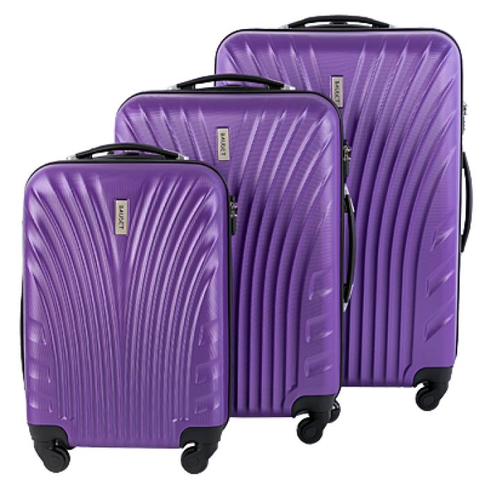 Чемодан пластиковый фиолетовый