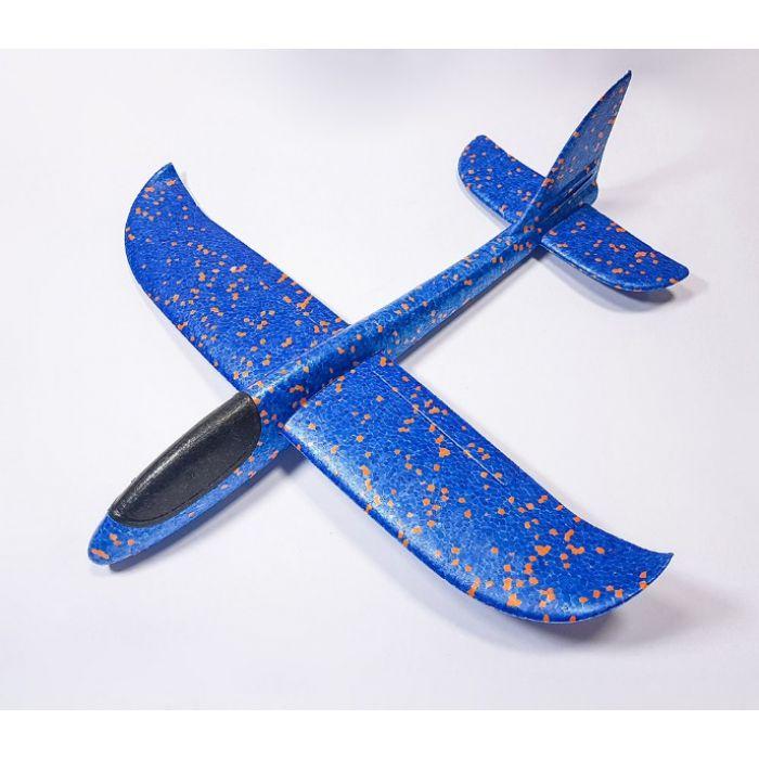 Самолетик из пенопласта 48 см - синий
